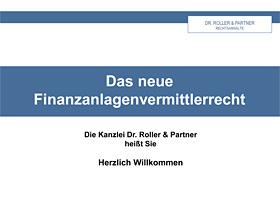 Novellierung des Finanzanlagenvermittler- und Vermögensanlagenrechts (FinAnlVG)